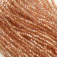 11/0 Czech Seed Bead Hank Copper Lined Crystal